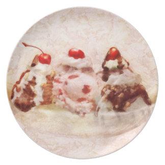 Sweet - Ice Cream - Banana split Dinner Plate