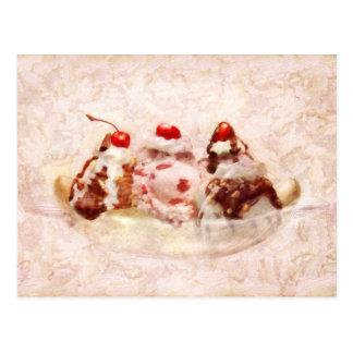 Sweet - Ice Cream - Banana split Postcard