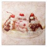 Sweet - Ice Cream - Banana split Tile