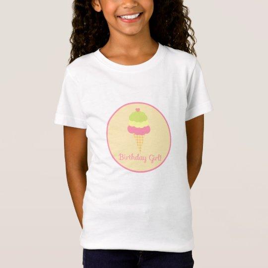 Sweet Ice Cream Birthday Girl T-Shirt