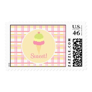 Sweet Ice Cream Birthday Postage stamp