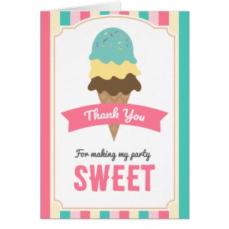 Sweet Ice Cream Cone Thank You Card