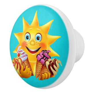 Sweet Ice Cream Drawer Pulls Ceramic Knob