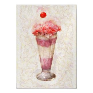"Sweet - Ice Cream - Ice Cream Float 5"" X 7"" Invitation Card"