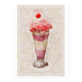 Sweet - Ice Cream - Ice Cream Float Postcard
