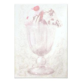 "Sweet - Ice Cream - Ice cream sundae 5"" X 7"" Invitation Card"