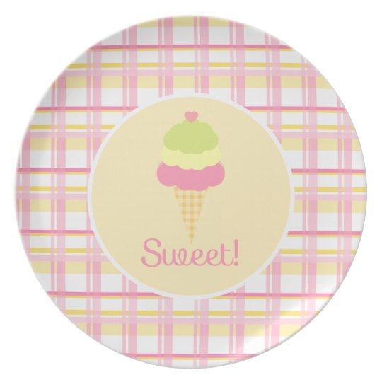 Sweet Ice Cream Plate