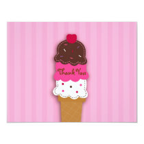 Sweet Ice Cream Shop Thank You Note Cards