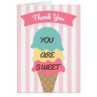 Sweet Ice Cream Social Thank You Card