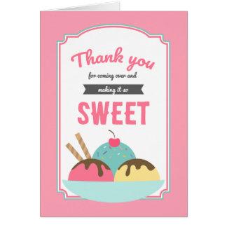 Sweet Ice Cream Sundae Social Thank You Card