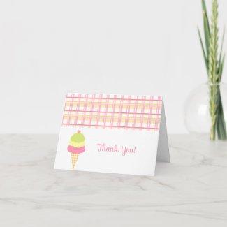 Sweet Ice Cream Thank You Card card