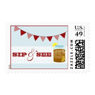 Sweet Iced Tea Blue Sip & See Postage