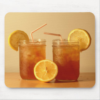 Sweet Iced Tea in Mason Jars with Straws Mouse Pad