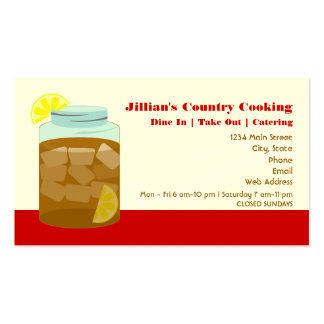 Sweet Iced Tea Restaurant / Catering Business Card