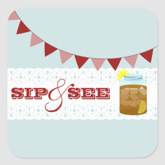 Sweet Iced Tea Sip And See Baby Boy Sticker