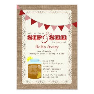 Sweet Iced Tea Sip And See Invitation