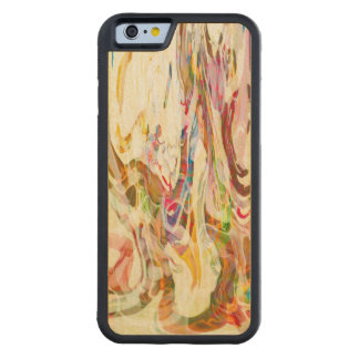 Sweet Intrigue Abstract Art Carved Maple iPhone 6 Bumper Case