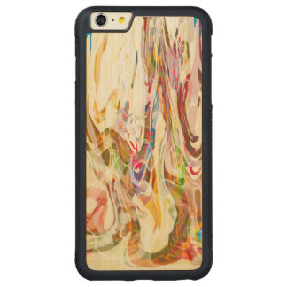 Sweet Intrigue Abstract Art Carved Maple iPhone 6 Plus Bumper Case