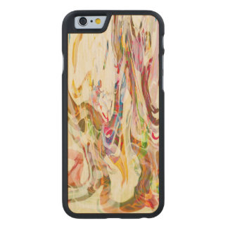 Sweet Intrigue Abstract Art Carved Maple iPhone 6 Slim Case