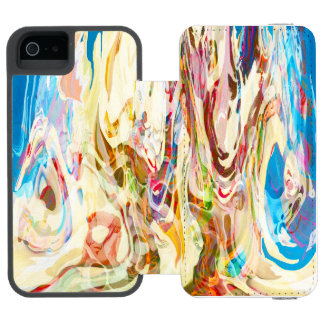 Sweet Intrigue Abstract Art iPhone SE/5/5s Wallet Case