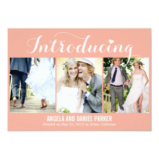 Sweet Introduction Wedding Announcement - Peach
