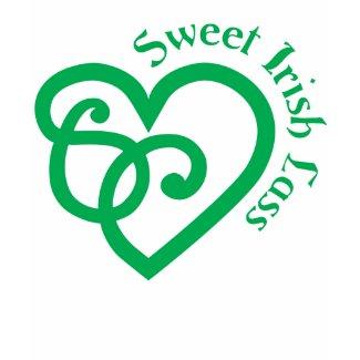 Sweet Irish Lass (Yellow) Ladies Petite Tee shirt
