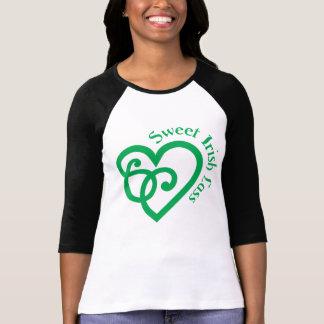 Sweet Irish Lass Celtic Heart Knot  Design T-Shirt