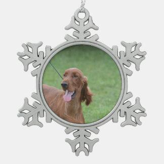 Sweet Irish Setter Dog Ornament