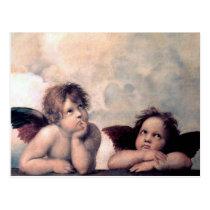 Sweet Italian Angels Renaissance Masterpiece Postcard