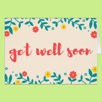 Sweet Ivory Floral Get Well Soon Greeting Card