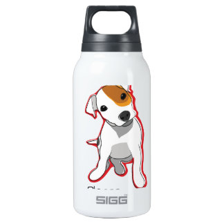 """Sweet Jack Russell Puppie """"Please"""" Insulated Water Bottle"""