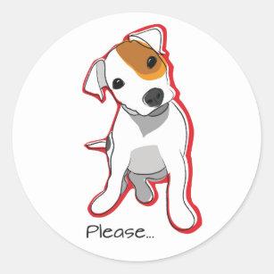 Jack Russell Terrier Noël Autocollants//ENVELOPPE SCEAUX 48 étiquettes pour cartes//cadeaux