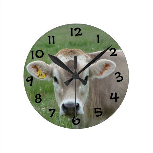 Sweet Jersey Cow Round Clock
