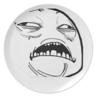 Sweet Jesus Comic Meme Dinner Plate