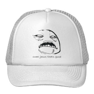 Sweet Jesus That's Good (text) Mesh Hat
