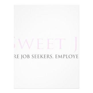 Sweet Job Spot Customized Letterhead