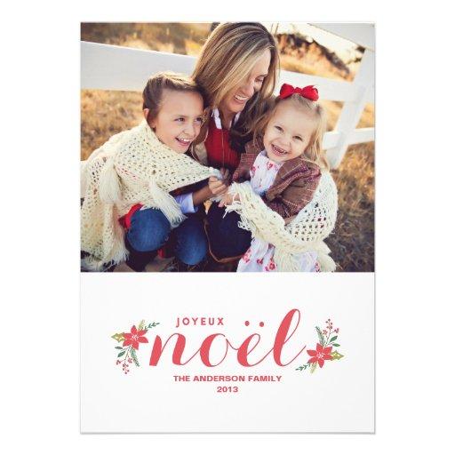 SWEET JOYEUX NOEL | HOLIDAY PHOTO CARD