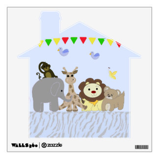 Sweet Jungle Animals Wall Sticker