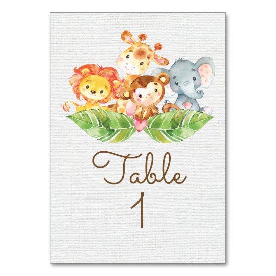 Sweet Jungle Table Card
