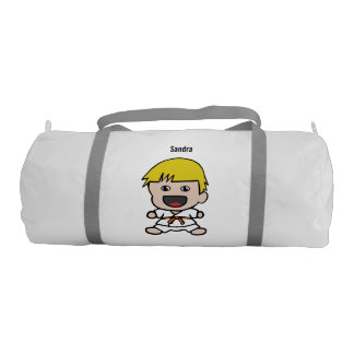 Sweet Karate Boy Duffel Bag