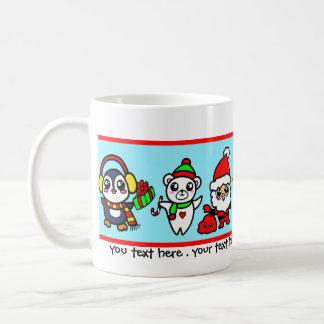 Sweet Kawaii Christmas Character pattern Coffee Mug