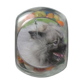 Sweet Keeshond Glass Candy Jars