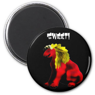 Sweet kibbles! 2 inch round magnet