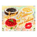 Sweet Kisses on your Birthday! Postcard