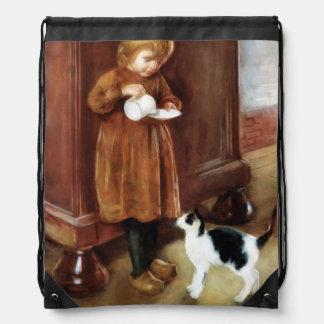 Sweet Kitten Drawstring Backpacks
