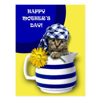 Sweet Kitten. Mother's Day Customizable Postcards