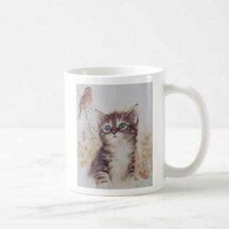 Sweet Kitten Spies Birdie Classic White Coffee Mug