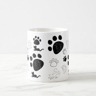 Sweet kittens and paws coffee mug