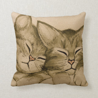 Sweet Kittens Throw Pillow