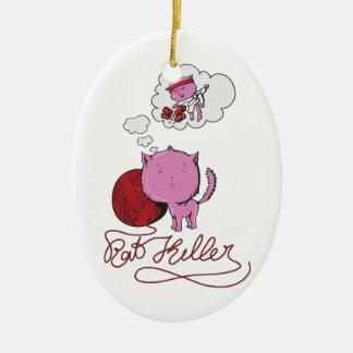 sweet kittie or rat killer christmas ornament